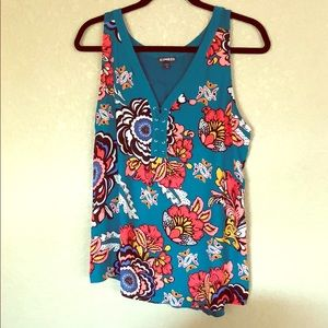 Express Tanktop, teal/colorful, size L
